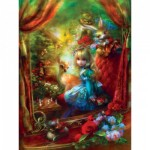 Puzzle   XXL Teile - Book Box - Alice at the Chessboard
