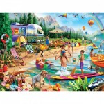 Puzzle   XXL Teile - Day at the Lake