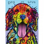 Puzzle   XXL Teile - Dean Russo - Dog is Love