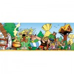 Nathan-87601 Puzzle 1000 Teile Panorama - Asteric und Obelix: Stark wie Asterix