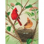 Puzzle  New-York-Puzzle-CB1870 XXL Teile - Northern Cardinals