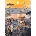 Puzzle  Otter-House-Puzzle-74137 Safari Sundown