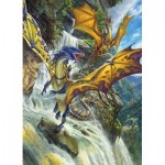 Puzzle  Cobble-Hill-51808 Matthew Stewart - Waterfall Dragons