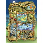 Puzzle  Cobble-Hill-54620 XXL Teile - Reptiles and Amphibians