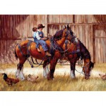 Puzzle  Cobble-Hill-57165-80155 Kleine Cowboys