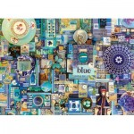 Puzzle  Cobble-Hill-57218 Blue