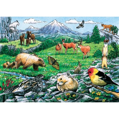 Cobble-Hill-58806 Rahmenpuzzle - Rocky Mountain Wildlife