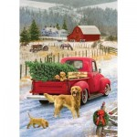 Puzzle  Cobble-Hill-58891 Red Truck Farm
