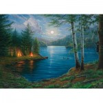 Puzzle  Cobble-Hill-80044 Summer Night