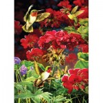 Puzzle  Cobble-Hill-80091 Ruby Geraniums