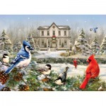 Puzzle  Cobble-Hill-80119 Country House Birds