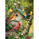 Puzzle  Cobble-Hill-80126 Summer Birdhouse