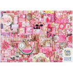 Puzzle  Cobble-Hill-80145 Pink