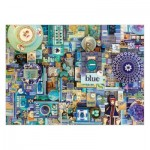 Puzzle  Cobble-Hill-80150-57218 Shelley Davies: Blue