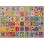Puzzle  Cobble-Hill-80314 50 States Quilt Blocks