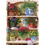 Puzzle  Cobble-Hill-85015 XXL Teile - Flower Cupboard