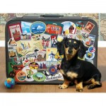 Puzzle  Cobble-Hill-85039 XXL Teile - Dachshund 'Round the World