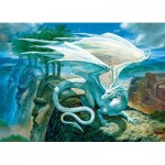 Puzzle  Cobble-Hill-85071 XXL Teile - White Dragon
