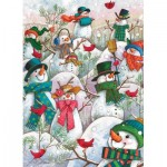 Puzzle  Cobble-Hill-85081 XXL Teile - Hill of a Lot of Snowmen