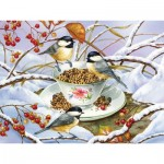 Puzzle  Cobble-Hill-88001 XXL Teile - Chickadee Tea