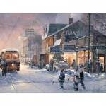 Puzzle  Cobble-Hill-88013 XXL Teile - Hockey Night