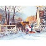 Puzzle  Cobble-Hill-88018 XXL Teile - First Snow