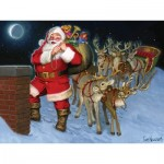 Puzzle   Santa by the Chimney