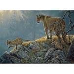 Puzzle   XXL Teile - Excursion: Cougar and Kits