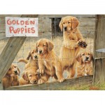Puzzle   XXL Teile - Golden Puppies