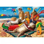 Puzzle   Cats on The Beach