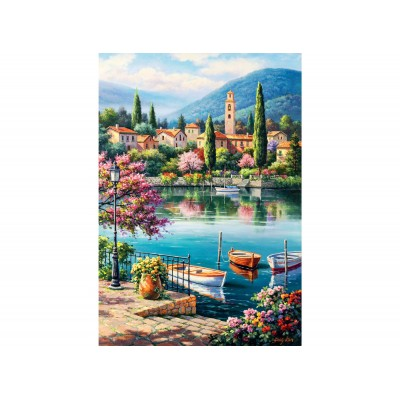 Puzzle Perre-Anatolian-3597 Village Lake Afternoon