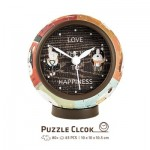 3D Puzzle Clock - Love is Key to Happiness