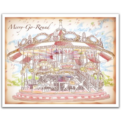 Pintoo-H1546 Puzzle aus Kunststoff 2000 Teile - Merry Go Round