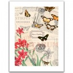 Pintoo-H1585 Puzzle aus Kunststoff - Buttlerfly & Flower