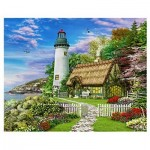 Pintoo-H1659 Puzzle aus Kunststoff - Dominic Davison - The Old Cottage