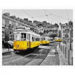 Pintoo-H1768 Puzzle aus Kunststoff - Yellow Trams in Lisbon