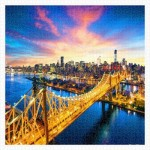 Pintoo-H1786 Puzzle aus Kunststoff - Manhattan with Queensboro Bridge, New York