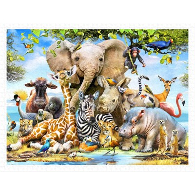 Pintoo-H2043 Puzzle aus Kunststoff - Howard Robinson - Africa Smile