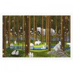 Pintoo-H2075 Puzzle aus Kunststoff - SMART - Polar Bears in the Forest