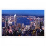 Puzzle  Pintoo-H2089 Aerial view of Hong Kong Victoria Harbor at night