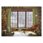 Pintoo-H2134 Puzzle aus Kunststoff - David Maclean - Window Cats