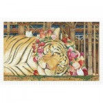Pintoo-H2146 Puzzle aus Kunststoff - Cotton Lion - Goodnight Tiger
