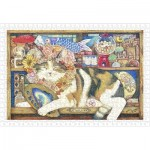 Puzzle  Pintoo-H2212 Cotton Lion - Cat Artist