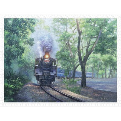 Puzzle Pintoo-H2338 Lai Ying Tse - The Whistle in Green Tunnel - Jiji Line Railway