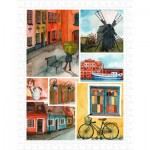Puzzle aus Kunststoff - Beautiful Collage of Tranquil Streets