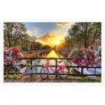 Puzzle aus Kunststoff - Beautiful Sunrise Over Amsterdam