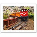Puzzle aus Kunststoff - Forest Train in Alishan National Park, Taiwan
