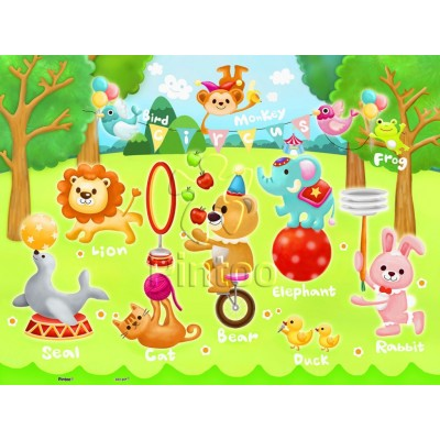Pintoo-T1017 Puzzle aus Kunststoff - Circus in the Forest (auf Englisch)