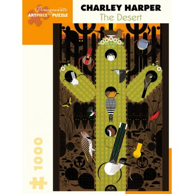 Puzzle Pomegranate-AA1062 Charley Harper - The Desert
