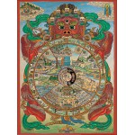 Puzzle  Pomegranate-AA553 Tibetan Wheel of Life